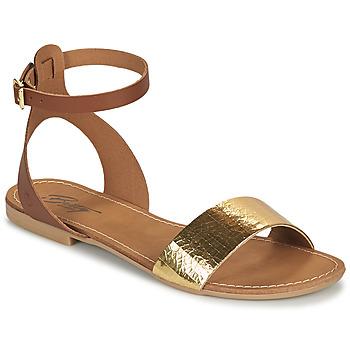 Cipők Női Szandálok / Saruk Betty London GIMY Teve / Arany
