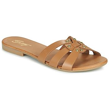 Cipők Női Papucsok Betty London OISO Teve