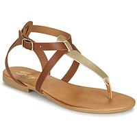Cipők Női Szandálok / Saruk Betty London ORIOUL Teve / Arany