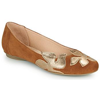 Cipők Női Balerina cipők  Betty London ERUNE Teve / Arany