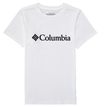Ruhák Fiú Rövid ujjú pólók Columbia CSC BASIC LOGO YOUTH Fehér