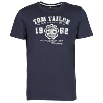 Ruhák Férfi Rövid ujjú pólók Tom Tailor  Tengerész