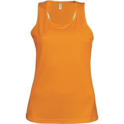 Ruhák Női Trikók / Ujjatlan pólók Proact Débardeur femme  Sport orange