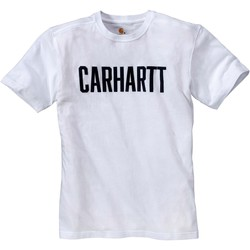 Ruhák Rövid ujjú pólók Carhartt T-shirt  Block blanc