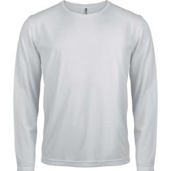 Ruhák Férfi Hosszú ujjú pólók Proact T-Shirt manches longues  Sport blanc blanc