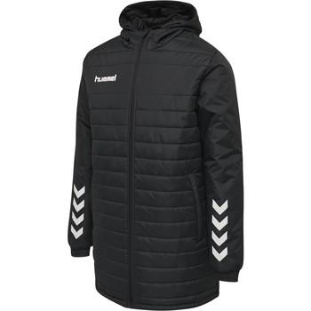 Ruhák Gyerek Steppelt kabátok Hummel Parka enfant  hmlPROMO Bench noir