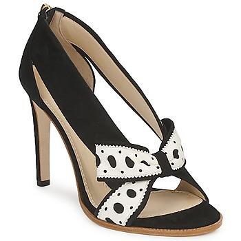 Cipők Női Félcipők Moschino DELOS ESCA Fekete  / Elefántcsont
