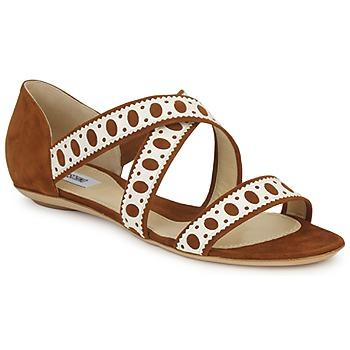 Cipők Női Szandálok / Saruk Moschino DELOS SAND Teve / Elefántcsont