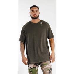 Ruhák Férfi Rövid ujjú pólók Sixth June T-shirt  logo épaule kaki