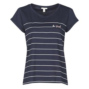 Ruhák Női Rövid ujjú pólók Esprit T-SHIRTS Kék