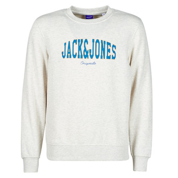 Ruhák Férfi Pulóverek Jack & Jones JORHART Fehér