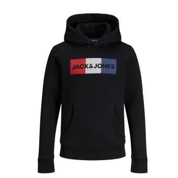 Ruhák Fiú Pulóverek Jack & Jones JJECORP LOGO PLAY SWEAT Fekete