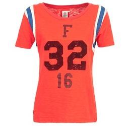 material Női Rövid ujjú pólók Franklin & Marshall POINTO Korall