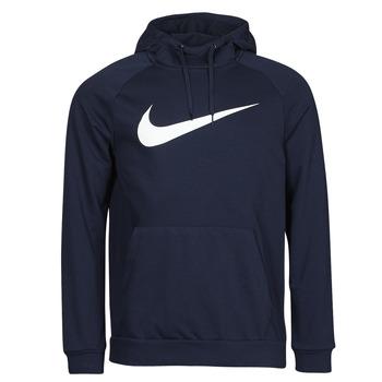 Ruhák Férfi Pulóverek Nike DF HDIE PO SWSH Kék / Fehér