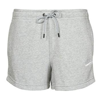 Ruhák Női Rövidnadrágok Nike NSESSNTL FLC HR SHORT FT Szürke / Fehér