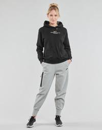 Ruhák Női Futónadrágok / Melegítők Nike NSTCH FLC ESSNTL HR PNT Szürke / Fekete