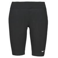 Ruhák Női Legging-ek Nike NSESSNTL MR BIKER SHORT Fekete  / Fehér