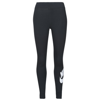 Ruhák Női Legging-ek Nike NSESSNTL GX HR LGGNG FTRA Fekete  / Fehér