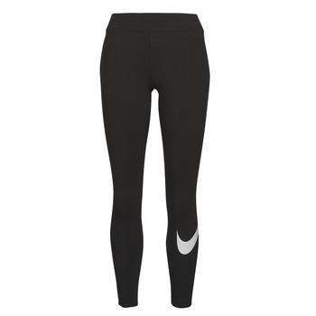 Ruhák Női Legging-ek Nike NSESSNTL GX MR LGGNG SWSH Fekete  / Fehér