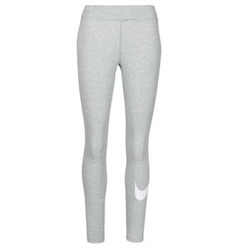 Ruhák Női Legging-ek Nike NSESSNTL GX MR LGGNG SWSH Szürke / Fehér