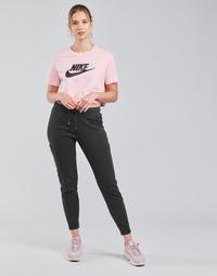 Ruhák Női Futónadrágok / Melegítők Nike NSAIR PANT FLC MR Fekete  / Fehér