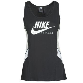 Ruhák Női Trikók / Ujjatlan pólók Nike NSHERITAGE TTOP HBR Fekete  / Szürke / Fehér