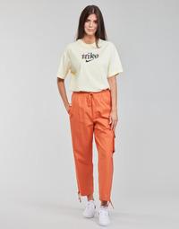 Ruhák Női Futónadrágok / Melegítők Nike NSICN CLASH PANT CANVAS HR Barna / Narancssárga