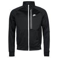 Ruhák Férfi Melegítő kabátok Nike NSTE N98 PK JKT TRIBUTE Fekete  / Fehér