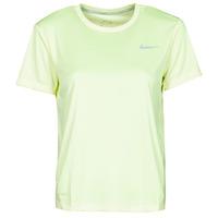 Ruhák Női Rövid ujjú pólók Nike MILER TOP SS Zöld / Szürke