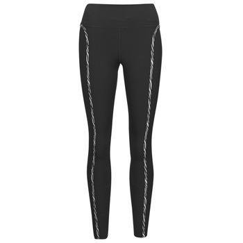 Ruhák Női Legging-ek Nike NIKE ONE LUXE ICNCLSH TGT Fekete  / Lila