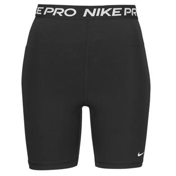 Ruhák Női Rövidnadrágok Nike NIKE PRO 365 SHORT 7IN HI RISE Fekete  / Fehér