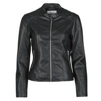 Ruhák Női Bőrkabátok / műbőr kabátok Vila VIBLUE Fekete