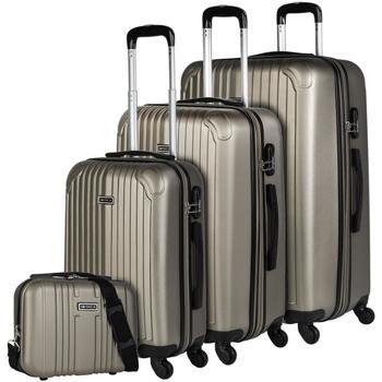 Táskák Keményfedeles bőröndök Itaca SEVRON szett 3 zsák plusz szükség Pezsgő
