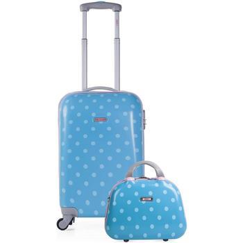 Táskák Lány Keményfedeles bőröndök Skpat TOPOS Kabin bőrönd és szükség van a lány Türkiz