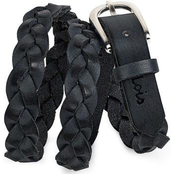 Textil kiegészítők Női Övek Lois Braided Leather Fekete