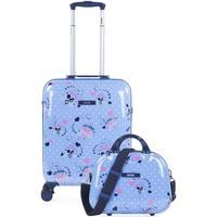 Táskák Lány Keményfedeles bőröndök Skpat SMIL Kabin bőrönd és szükségszerűség Kék