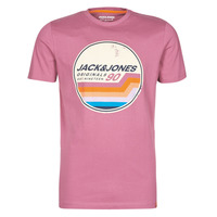 Ruhák Férfi Rövid ujjú pólók Jack & Jones JORTYLER Rózsaszín