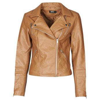 Ruhák Női Bőrkabátok / műbőr kabátok Only ONLGEMMA Konyak