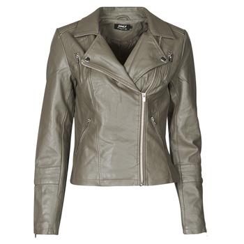 Ruhák Női Bőrkabátok / műbőr kabátok Only ONLGEMMA Szürke