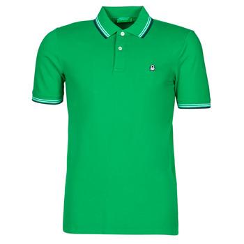 Ruhák Férfi Rövid ujjú galléros pólók Benetton 3WG9J3181-108 Zöld