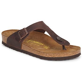 Cipők Női Lábujjközös papucsok Birkenstock GIZEH PREMIUM Barna