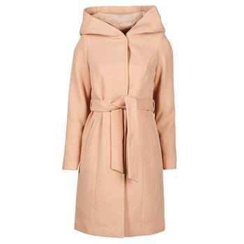 Ruhák Női Kabátok Vero Moda VMCALALYON HOOD 3/4 JACKET GA Rózsaszín