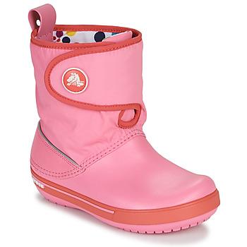 Cipők Gyerek Hótaposók Crocs CROCBAND ll.5 GUST BOOT KIDS PLEM PPY Rózsaszín