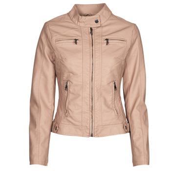 Ruhák Női Bőrkabátok / műbőr kabátok Moony Mood ORNELLA Rózsaszín