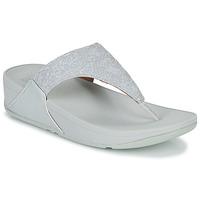 Cipők Női Lábujjközös papucsok FitFlop LULU SHIMMER TOE POST Fehér