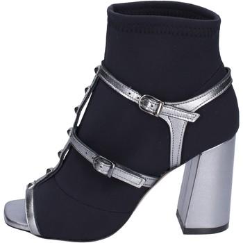 Cipők Női Bokacsizmák Stephen Good Stivaletti Tessuto Pelle Nero