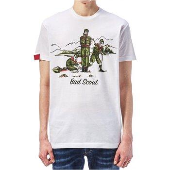 Ruhák Férfi Rövid ujjú pólók Dsquared S74GD0361 Fehér