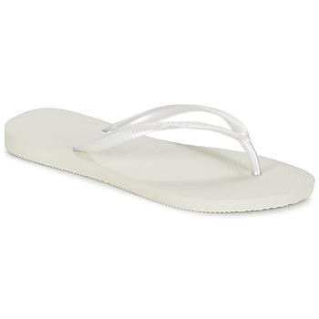 Cipők Női Lábujjközös papucsok Havaianas SLIM Fehér