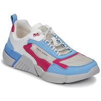 Cipők Női Rövid szárú edzőcipők Skechers BLOCK/WEST Fehér / Kék / Rózsaszín