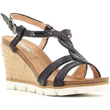 Cipők Női Gyékény talpú cipők Le Chicche BF7244/5 Fekete